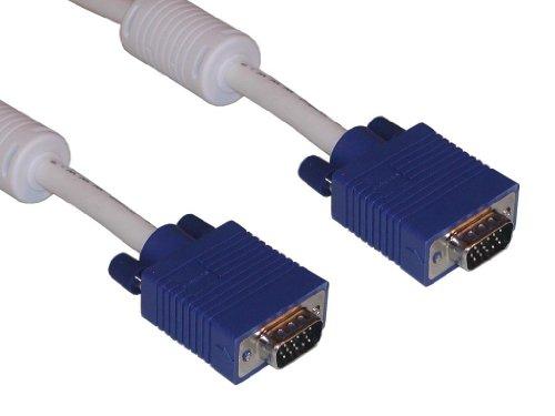 """Sandberg 502-02 Monitor Kabel, """"VGA LUX"""", 10m weiß und blau"""