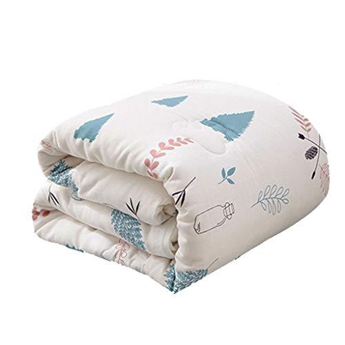 COTTONN Baumwolle Babydecken Dicke Decken for Herbst- und Winter-Cartoons 120 * 150 cm (47 * 59 Zoll) Gefüllt mit ca. 1,5 kg Baumwolle (Color : B) (Holzkohle Grau Bettbezug)