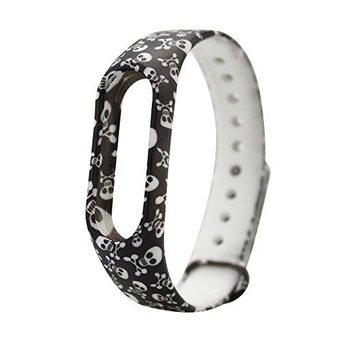 Upxiang 25 Farben Uhrenarmband Silica Gel Armband Band Ersatzband für Xiaomi Mi Band 2 Armband (K)