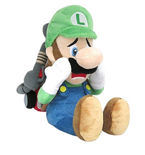 """Luigi with Strobulb - Luigi Scared - Luigi's Mansion - 25cm 10"""""""