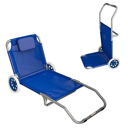 Spiaggina trolley con ruote per mare e campeggio