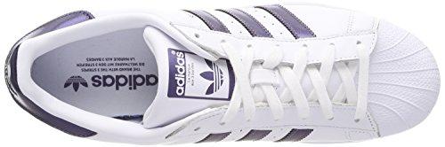 adidas Damen Superstar Gymnastikschuhe Elfenbein (Ftwr White/purple Night Met. F17/ftwr White)