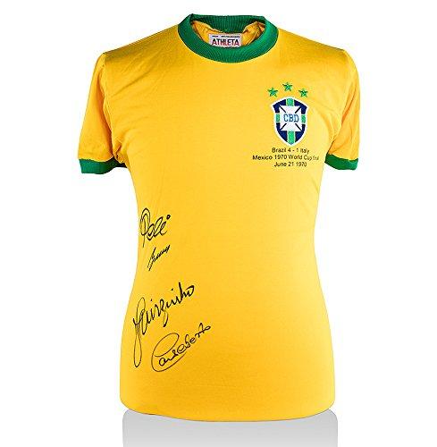 Brazil-1970-Shirt-Signed-By-Pele-Gerson-Jairzinho-Carlos-Alberto
