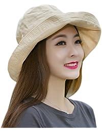 Mode Chapeau anti UV Casquette Respirant de Pêche avec Pare-soleil Fashion Femme Chapeau Voyage Chapeau De Soleil Capeline Chapeau Melon à Bord Large Panama pour Sports de Plein Air