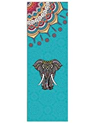 YOOMAT Colchonetas de Yoga Toalla de Microfibra Sabiduría Elefante Gimnasio Fitness Pilates Pad Colchonetas de Ejercicio