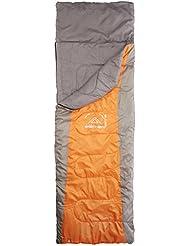 Elementerre DANKA - Saco de dormir cuadrado, color naranja, talla 220 x 75