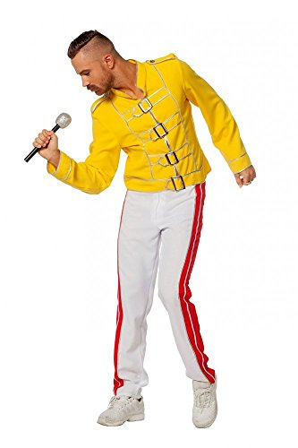 shoperama King Freddie Deluxe Herren Kostüm Rockstar Jacke und Hose Mercury Freddy Sänger Topqualität, ()