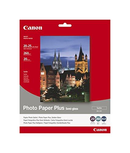 Canon 1686B018 SG-201 semi glossy photo paper inkjet 8x10 inch 20 Blatt Pack (Foto-drucker 8x10)