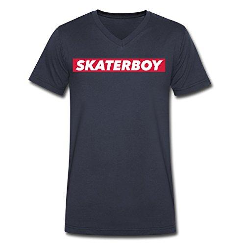 Gebraucht, Skaterboy Männer T-Shirt mit V-Ausschnitt von Spreadshirt®, gebraucht kaufen  Wird an jeden Ort in Deutschland
