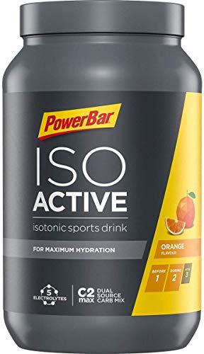 Powerbar Isoactive Bebida Isotónica con Electrolitos y Hidratos de Carbono, Sabor Naranja...