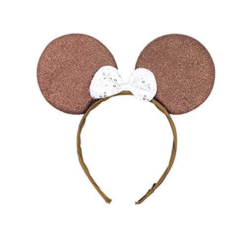 Micky Minnie Maus Ohren, Haarband, Haarband, Kostüm, Braun, Junggesellinnenabschied, Halloween, Kostüm, Mädchen Geburtstag Party