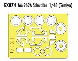 Eduard Accessories ex07430502000Me 262A Schwalbe