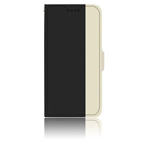 AVIDET iPhone X Hülle - Hochwertiges PU Leder Etui Tasche für iPhone X (Rot) Schwarz
