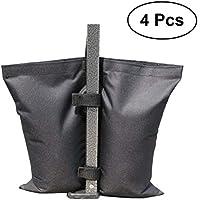 VORCOOL Bolsa de Pesas de Grado Industrial, Pesas de Pierna para Pop-up Canopy 4pcs-Pack (Negro)