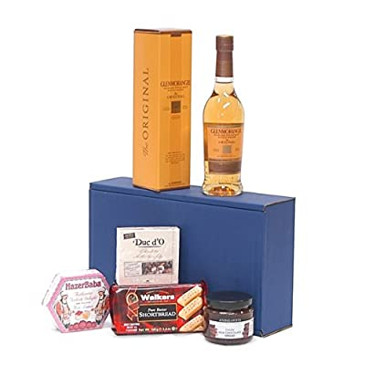The Glenmorangie Whisky Dunkin Delights Gift Hamper - Includes 350ml Ten Years Old Glenmorangie Highland Single Malt Scotch Whisky Gift ideas for - Valentines,Presents,Birthday,Men,Him,Dad,Her,Mum,Thank you,Wedding Anniversary,Engagement,18th,21st,30th,40