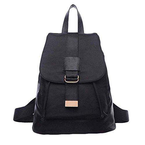 Oxford Tuch Schultern Zurück Handtaschen Mittelschule Studenten Freizeit Taschen Mode Sport Reise Rucksack Black