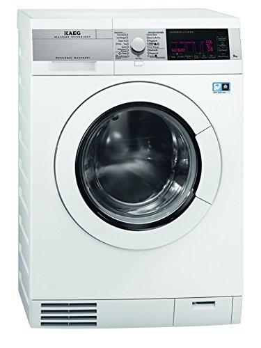 AEG LAVAMAT ÖKOKOMBI PLUS L99484HWD Waschtrockner / 760 kWh / Dampfprogramme / Alarmfunktion bei Wasseraustritt / weiß mit Edelstahl-Blende