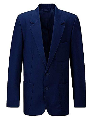 Neuf Beau Brummel Uniforme Scolaire Elegant Manteau Ziggys Hommes Entrée Fermeture Éclair Blazer Senior - unisexe adulte, Bleu marine académique, 60
