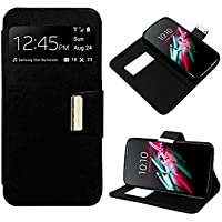 Funda Flip Cover Premium color Negro para Huawei Ascend Y625