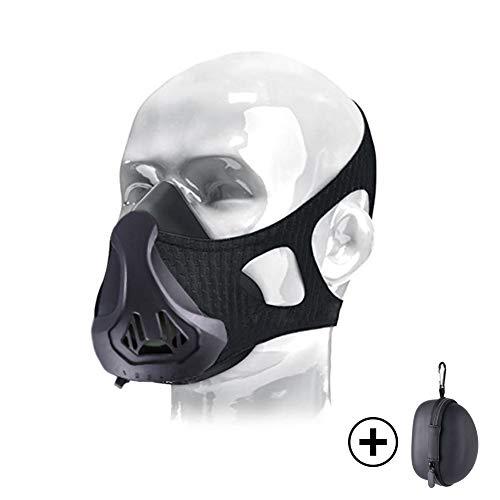 ThreeCat Máscaras de Deportes, Estilo Negro;scara para Entrenamiento y acondicionamiento de Gran altitud, máscara scara Deportiva 3.0 (Rose Red)