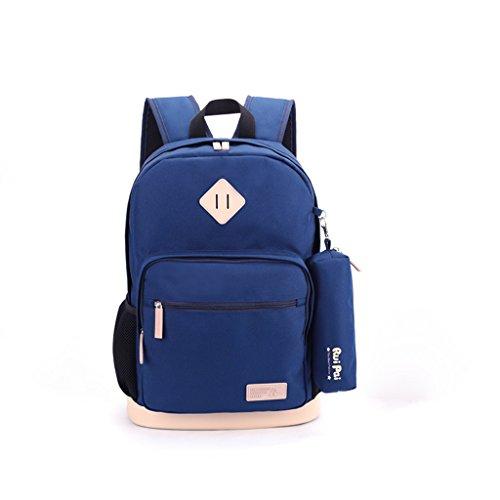 TLMY Student Tasche Junge Kind Tasche Rucksack Rucksack (Farbe : Blau)