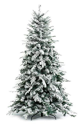 Albero di natale innevato alaska (240 cm) - effetto realistico