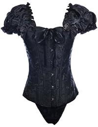 Topwedding manches froncées lacent tapisserie corset