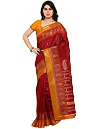 Samskruti Sarees Women's Cotton Silk Saree With Blouse Piece (Syuvef000349_Multi-Coloured)