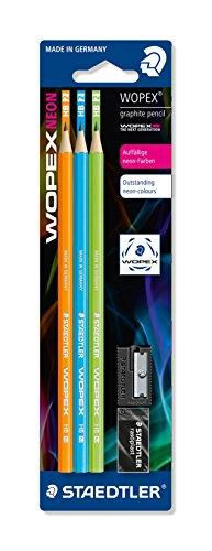 Staedtler 180FSBK3-2 Bleistift WOPEX HB Set, Blisterkarte