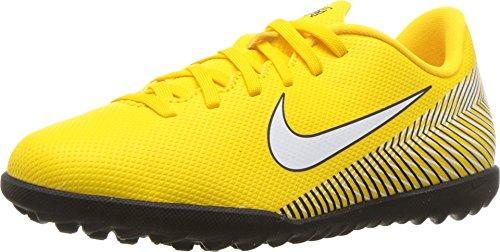 Nike Jr Vapor 12 Club GS NJR Tf, Scarpe da Calcetto Indoor Unisex-Bambini, Multicolore (Amarillo/White/Black 710), 34 EU