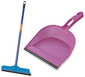 Gala Double Lip Wiper and Gala Dustpan for Bathroom Floor Cleaning