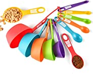 12Pcs Kitchen Measuring Cup Spoons Set, Plastic Cooking Utensils for Baking and Measure Dry Liquid Ingredients