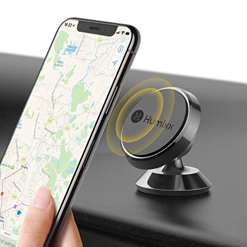 Humixx Universal Handyhalterung Auto Magnet, 360 °Einstellbare Smartphone Halterung Auto, Schwarz