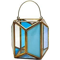 Mr.Fragile Moderno DIY Colgante de Cristal geométrico terrario, Maceta en Miniatura Bonsai contenedor Ventana balcón decoración para Plantas suculentas