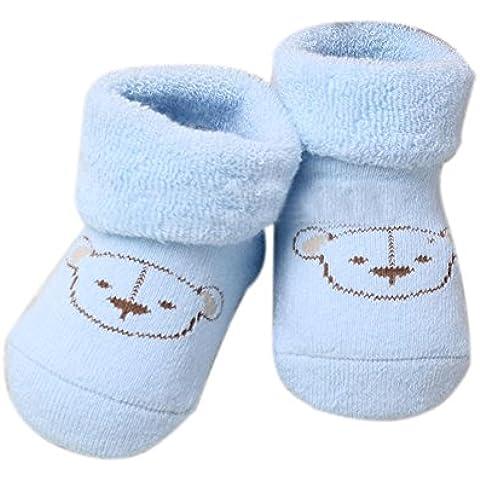 Dos Pares de Calcetines Azul Recién Nacido Se Aplaca el Otoño y el Invierno Cálido Oso