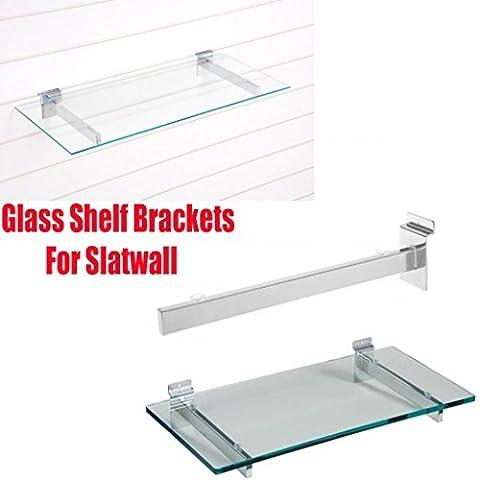 New Glas Regal Klammern für Slatwall mit Saugnäpfen für Glas 5Größen 15,20,25,30,35cm 350mm