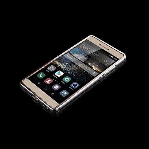 Minto Luxus Aluminium Metall Spiegelhülle Schutzhülle iPhone 8 Plus / iPhone 7 Plus Spiegel PC Rückseite Case Cover Hülle + Metall Bumper Rahmen Silber Silber -p8