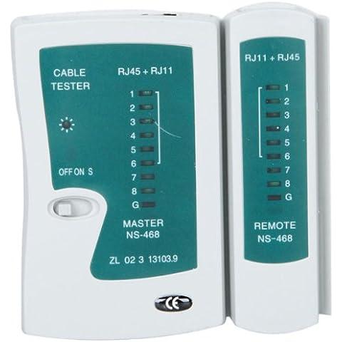 Probador de Cables Teléfono Red LAN RJ45 RJ12 RJ11 Cat5 CAT5e TIA-568A/568B