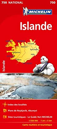 Carte NATIONAL Islande Michelin