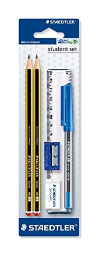 Staedtler – Conjunto de lápices, goma de borrar, bolígrafo y regla