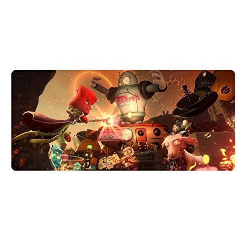 MAOYU Game Mauspad Pflanze vs. Zombie Game Around Eisen Eimer Pirat Western Zombie Nut Übergroße Verdickung Naht 900 x 400 x 3 mm Tischmatte Tastatur Mauspad