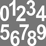 10 Stück 12cm weiß Ziffer Ziffern Zahl Zahlen Nummer Hausnummer Aufkleber die cut Tattoo Deko Folie