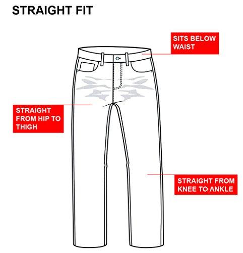 NEU Herren ENZO Designer gerade Leg Blau Schwarz Darkwash Jeans alle Hüfte Grau