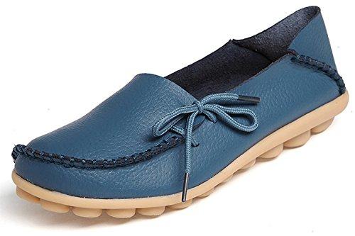 sins Bootsschuhe Leder Loafers Freizeit Schuhe Flache Fahren Halbschuhe Slippers ()