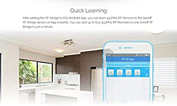 3 In 1 Kits:sonoff Rf Bridge Wifi 433mhz + Pir2 Pir Infrared Human Sensor + Dw1 Door & Window Alarm Sensor For Smart Home Remote Control By Ios Android Works With (Amazon Alexa Google Home) 6