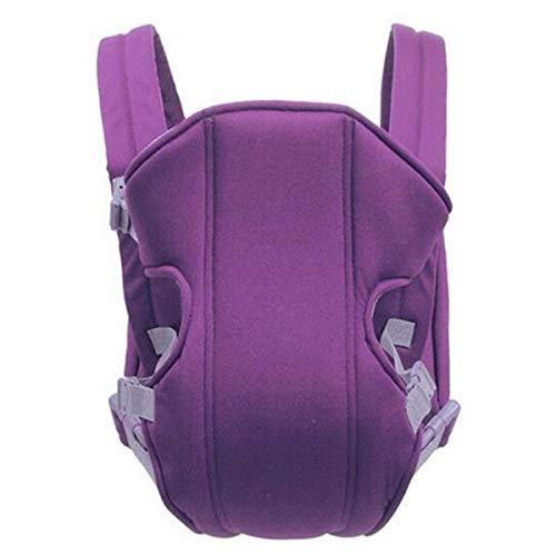 (0-24 Monate Baby-Känguru-Gürtel, multifunktionale Babyschalen Atmungsaktive Vorderseite Komfortable Sling Rucksack Pouch Wrap (Color : Purple, Size : 0-24M))