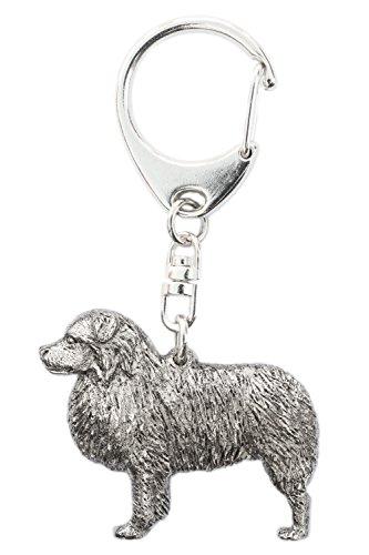 Australian Shepherd Made in UK, Collezione Portachiavi Artistici Stile Cani