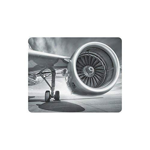 Luancrop Coole Jet Engine Flugzeug Thema Rechteck rutschfeste Gummi komfortable Computer-Maus-Pad Gaming Mousepad Matte mit Designs (Jet-engine-flugzeug)