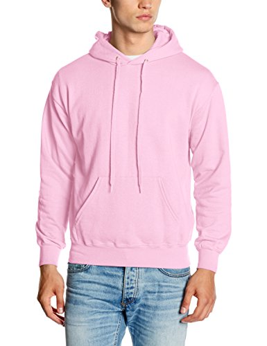 Fruit of the Loom SS026M, Sudadera con capucha Para Hombre, Rosa (Light Pink), Small
