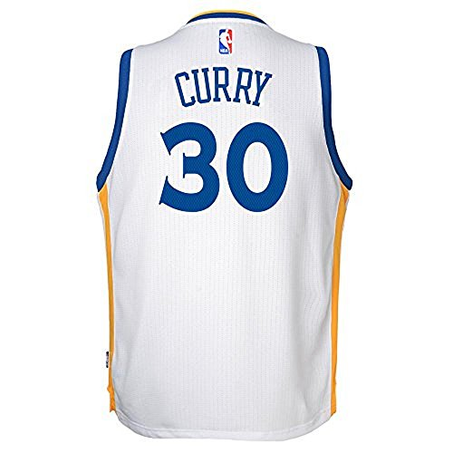 Warriors Curry Swingman Home NBA Fan Basketball Jersey – Youth Kinder, Herren, weiß ()